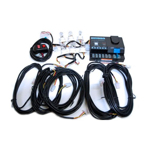 6 Head 120 Watt Amber White Hideaway Strobe Kit