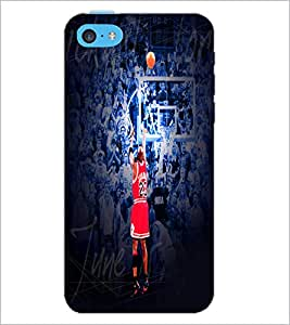 PrintDhaba Sports D-5539 Back Case Cover for APPLE IPHONE 5C (Multi-Coloured)