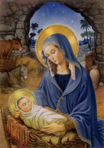Advent Calendar - Mary with Baby Jesus