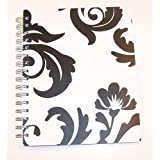 "Carolina Pad Studio C College Ruled Poly Cover 3 Subject Ideal Book ~ Fashionista (Black & White Damask; 6.5""..."