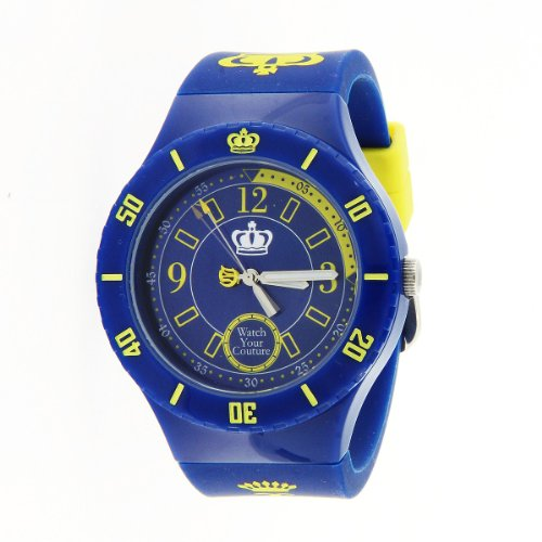 Juicy Couture Women's 1900825 TAYLOR Royal Blue Jelly Strap Watch