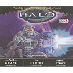 Halo MP3 Boxed Set: The Fall of Reach The Flood First Strike by Eric Nylund,&#32;William C. Dietz and Todd McLaren