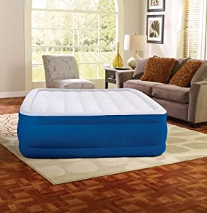 Simmons Beautyrest 17-Inch Queen Plushaire Express Air Bed with Pump