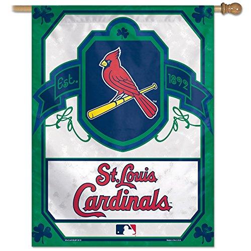 "MLB St. Louis Cardinals 85023010 Vertical Flag, 27"" x 37"", Black"