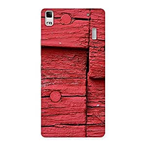 Knot Red Wood Back Case Cover for Lenovo A7000
