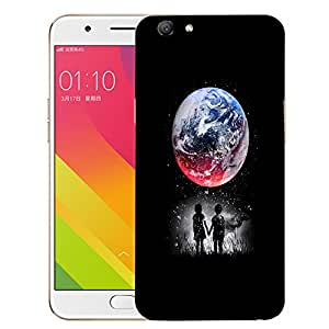 Snoogg Kids Watching The Moon Designer Protective Back Case Cover For OPPO A59