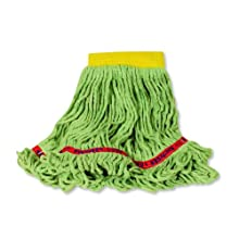"Rubbermaid Swinger Loop Wet Mop, 5"" Headband, Green"