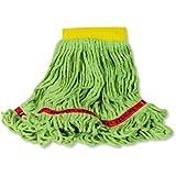 "Rubbermaid Swinger Loop Wet Mop, 5"" Headband, Green"