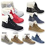 WOMENS FUR LINED WINTER BOOTS LADIES...