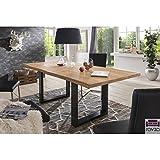 Esszimmertisch-Kufentisch-BRIAN-mit-Baumkante-220x100-Eiche-NATUR-geltStahlgestell-schwarz