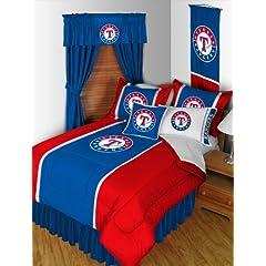 TEXAS RANGERS QUEEN 15 PIECE BEDDING COMFORTER BED IN A BAG BEDROOM DECOR by TEXAS RANGERS
