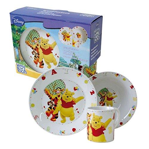 Disney Winnie Pooh 3tlg. Set colazione Stoviglie per bambini