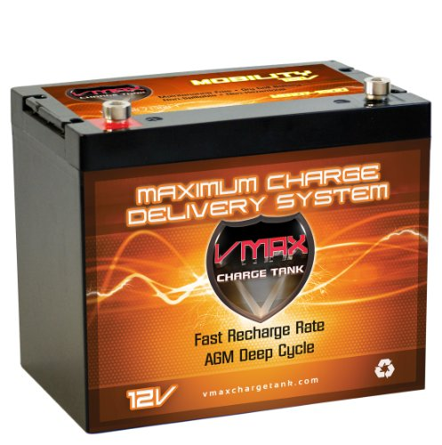 Vmaxmb107 Agm Group 24 Deep Cycle Battery Replacement For Carter Carter Co - All Models 12V 85Ah Wheelchair Battery