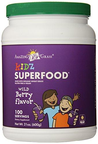 Amazing Grass Kidz Superfood 100 Servings, Berry, 21-Ounce