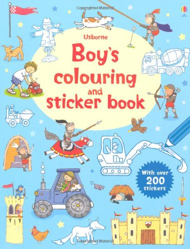 Boys' Colouring and Sticker Book (First Colouring & Sticker Book)