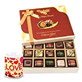 Valentine Chocholik Belgium Chocolates - Falling In Love With Pralines Chocolates And Love Mug
