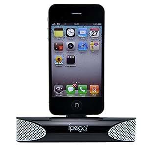 iPega PG-IH036 Charger Speaker for iPhone 3Gs/4G Portable Charger Stereo Loud Speaker Audio Base Loudspeaker Box - Black
