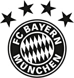 "FC Bayern München Wandtattoo ""schwarz"" ca. 26 x 28 cm"