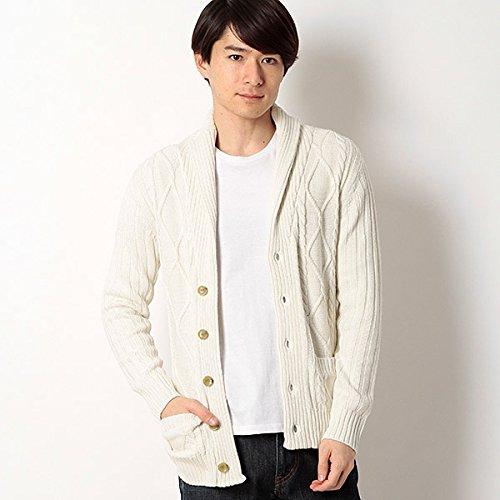 ミッシェルクランオム(MICHEL KLEIN HOMME) ショールカラーデザインニット【90ホワイト/46/M】