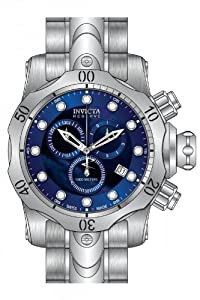 Invicta Venom Chronograph Blue Dial Stainless Steel Mens Watch 80573