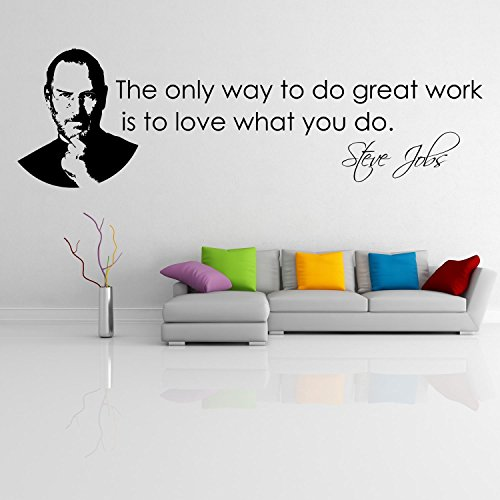 "Steve jobs ''The only way..."" Adesivo da parete Vinyl Wall Stickers Decals"