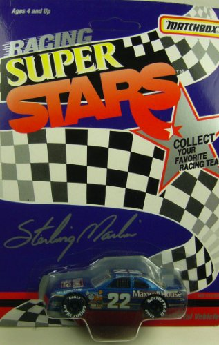 1992 NASCAR Matchbox Racing Super Stars . . . Sterling Marlin #22 Maxwell House Ford Thunderbird 1/64 Diecast