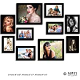 "10 Pc Black Photo Frame Wall Collage, 2Pc 8"" X 10"", 4Pc 5"" X 7"", 4Pc 4"" X 6"""