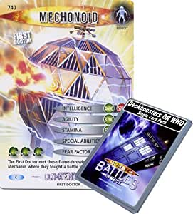 Doctor Who - Single Card : Ultimate Monsters 140 (740) Mechonoid Dr Who Battles in Time Common Card