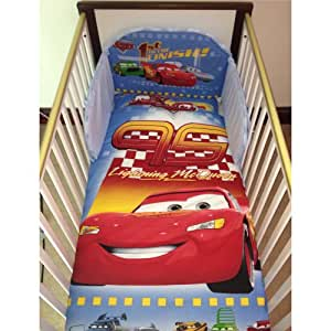 disney pixar cars lightning mcqueen bedding set for cot or cotbed cot