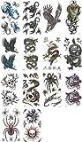 PLATA ( プラタ ) タトゥーシール 大柄タイプ * 蠍 ( スコーピオン ) 鷹 ( イーグル ) 龍 ( ドラゴン ) 髑髏 ( スカル / ドクロ ) 狼 (ウルフ)