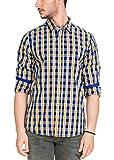 Zovi Men's Cotton Slim Fit Shirt (1203700660140_Blue_40)