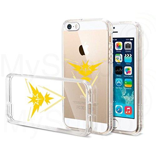Transparente-Silicon-Case-Funda-TPU-Silicona-Funda-BUMPER-Case-Funda-para-iPhone-55-C-Pokemon-Go-Team-Amarillo-Intuition-I-zapdos