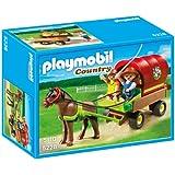 Playmobil - 5228 - Jeu de Construction - Enfants et Chariot