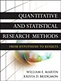 img - for Quantitative and Statistical Research Methods: From Hypothesis to Results book / textbook / text book