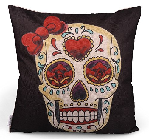 Super Angebot ! - Day of the dead, Tag der Toten, Mexico, Fiesta Skull Kissen, Mexican Sugar, Kissenbezug, Día de los muertos / Original De...