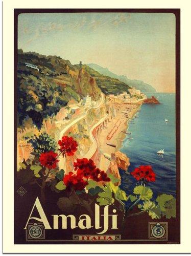 Amalfi, Italian Travel Poster, 1927. Artist: Mario Borgini (30x40cm Art Print)