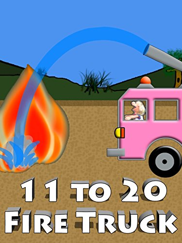 Pink Fire Truck Counting 11 to 20 For Kids