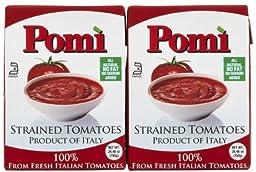 Pomi Strained Tomatoes, Carton, 26 oz, 2 pk