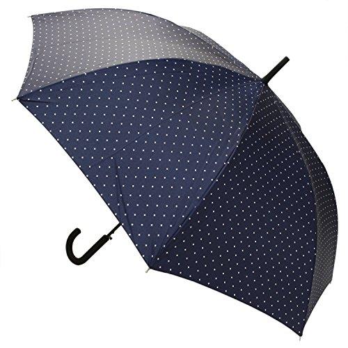【晴雨兼用】 長傘 ジャンプ傘 ダイヤモンドドット 65cm MSL-014