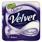Triple Velvet Soft Pure White Toilet Tissue 10x 4 per pack