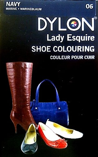 1 x Dylon 20ml Sachet Lady Esquire Leather & Synthetic Navy Blue Shoe Boot Colouring