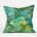 DENY Designs Stephanie Corfee Green Tea Throw Pillow, 16-Inch by 16-Inch