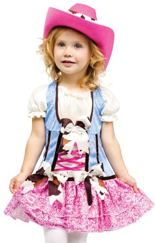 fun world toddler girls cowgirl cowboy rodeo halloween costume 3t 4t