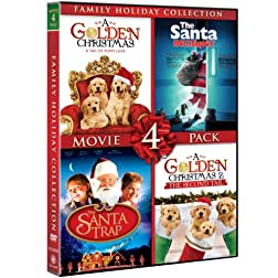 Family Holiday Collection Movie 4 Pack (The Santa Trap, The Santa Incident, A Golden Christmas, A Golden Christmas: The Second Tail)