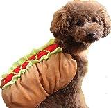 ペット 服 ホットドッグ おもしろ ( 選べるサイズ ) 犬 猫 わんちゃん コスプレ 衣装 散歩 プレゼントに くま屋オリジナルノート付(S)