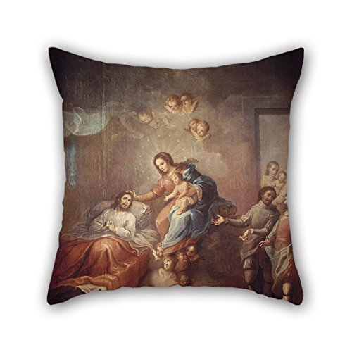 Elegancebeauty Pillow Covers 18 X 18 Inches / 45 By 45 Cm(2 Sides) Nice Choice For Deck Chair,home,christmas,valentine,son,bench Oil Painting