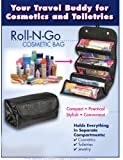 "4 COMPARTMENT ""ROLL N GO"" COSMETIC/TOILETRY/JEWELRY BAG"