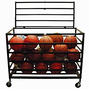 Monster Ball Locker - Mobile w Steel Cage Frame by Athletic Connection