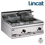 Lincat frifri Gas-Friteuse 2x 6 L 16 KW Tisch-Fritteuse