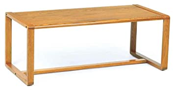 Coffee Table w Sled Base - Contour (Black)